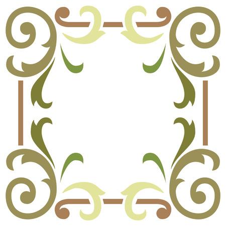 manos limpias: Marco de la hoja de frontera elegante y simple planta Vectores
