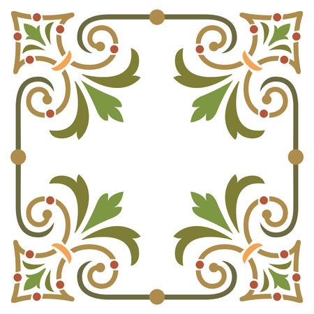 simple border: Elegant and simple plant leaf border frame Illustration