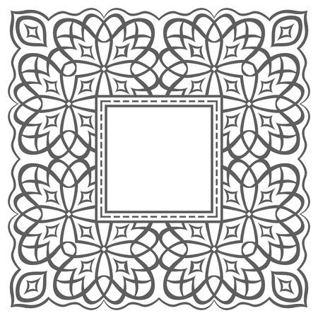 Blank garnished frame, Ancient style border Vector