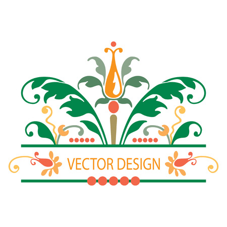 natural beauty: Flowers decoration with colorful plant leaves, vector design Illustration