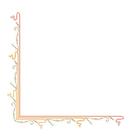 cornering: Simple cornering decoration of colorful lines Illustration