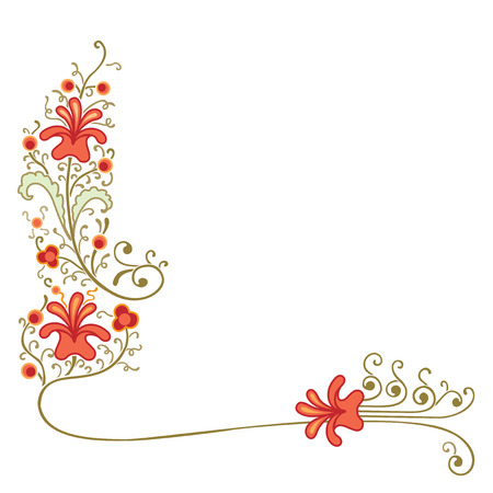 cornering: Cornering decoration of flowers and plants