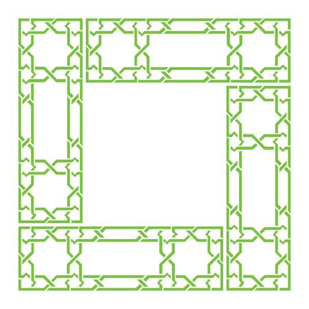 Arabesque frame, geometric border, ancient graphic style
