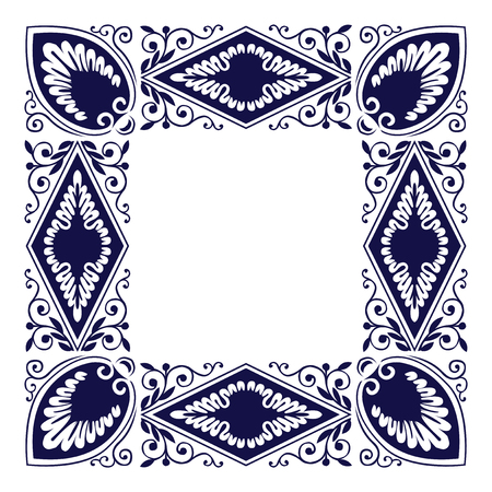 Ancient style square border, antique frame shape