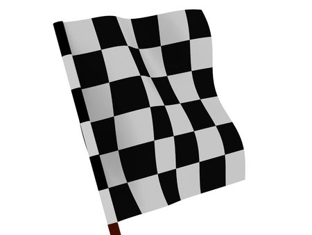 Finishing checkered flag. 3d Stock Photo - 1280931