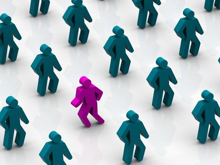 congregation: Silhouettes of people 3d