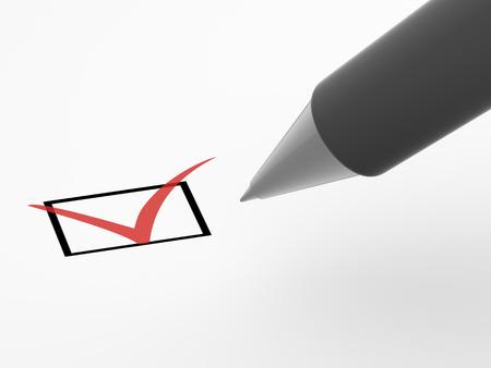 The questionnaire. 3d photo