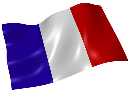 French flag. 3d Stock Photo - 1399393