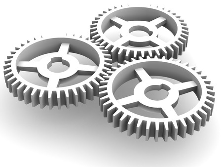 gearings: Gear.3d Stock Photo
