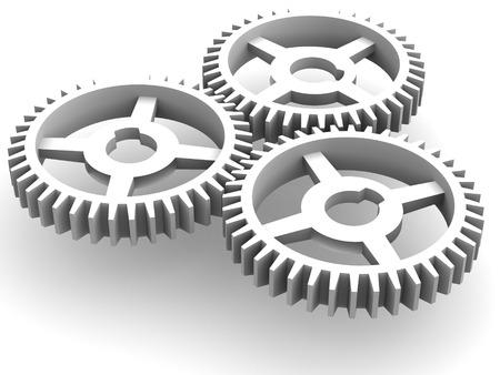 gearings: Gear.3d Stock Photo