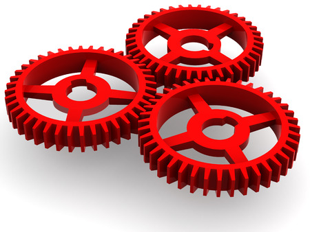 gearings: Gear. 3d Stock Photo