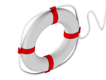 rubber ring: life preserver for first help. 3d