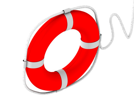 life preserver: life preserver for first help. 3d