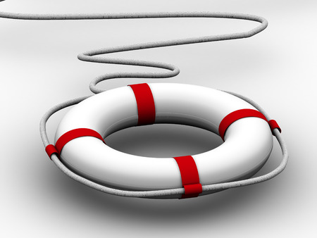 preserver: life preserver for first help. 3d