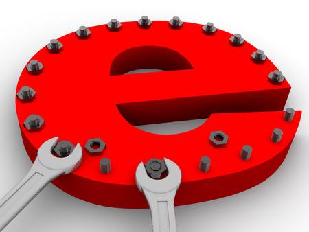 Symbol of internet. 3d Stock Photo - 1422296