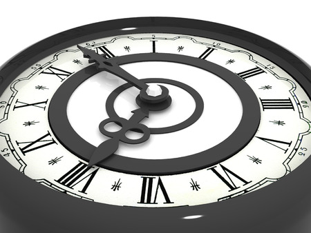 workday: Clock. eight oclock. 3d Stock Photo