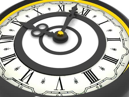 o�??clock: reloj. Nueve en punto. 3d