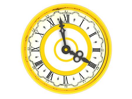 o�??clock: reloj. Cuatro en punto. 3d