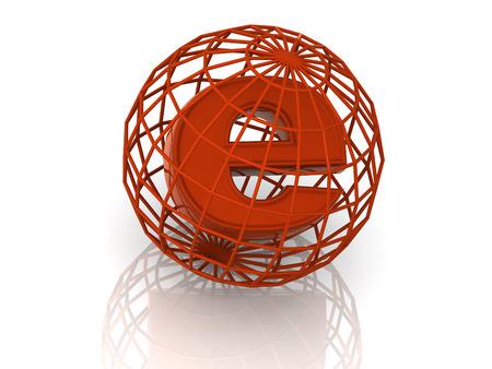 http: symbol for internet. 3d