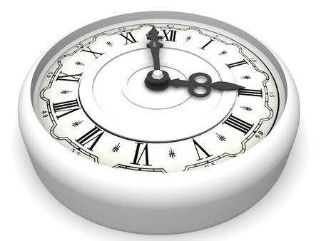o�??clock: reloj. Tres o  'reloj. 3d