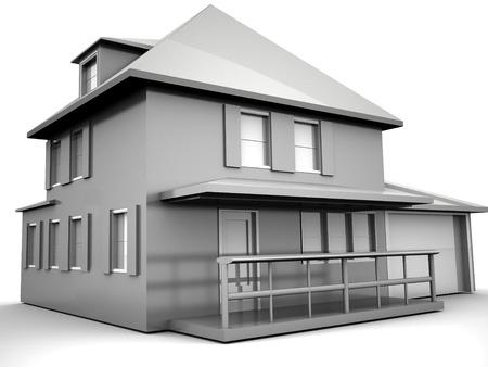 Model of house. 3d Stock Photo - 1648467