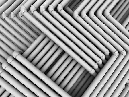 abstact: Abstact tubes communications. 3d Stock Photo