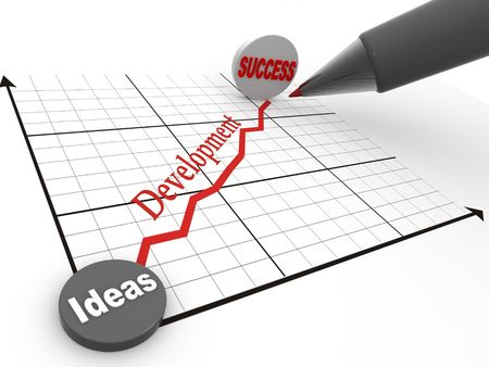 projectile: Pen with schedule. Strategy of success. 3d