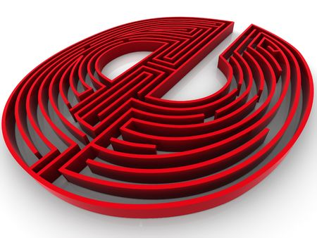 http: symbol for internet. Labyrinth. 3d Stock Photo