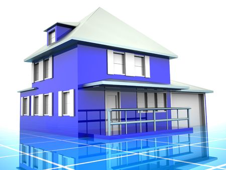 Model of house. 3d Stock Photo - 1747794
