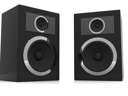 Loudspeakers. 3d photo