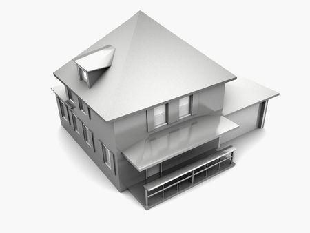 Model of house. 3d Stock Photo - 1747797