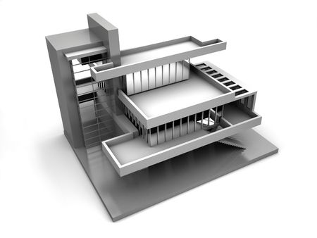 Model of house. 3d Stock Photo - 1747792