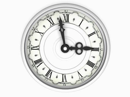 o�??clock: reloj. Las tres en punto. 3d Foto de archivo