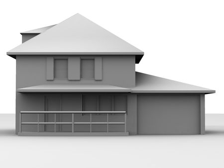 Model of house. 3d Stock Photo - 2087077