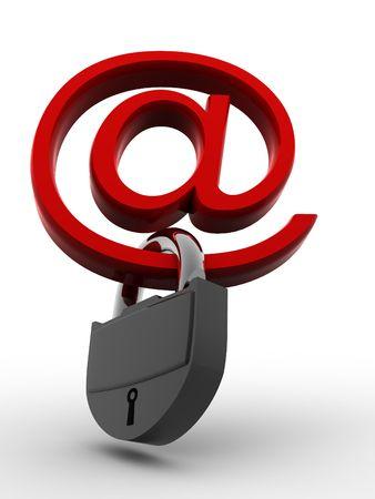 bug key: Symbol for internet with padlock. 3d Stock Photo