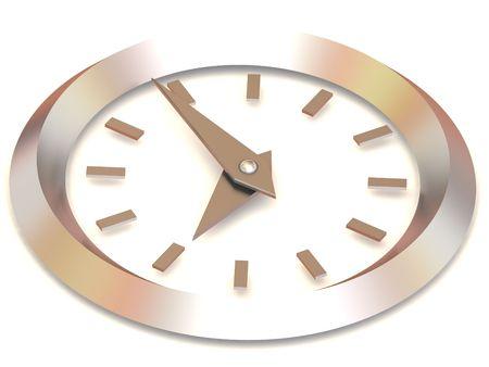 o�??clock: Reloj. ocho. 3d
