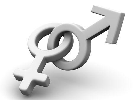 El símbolo de sexo. 3d  Foto de archivo - 2455846