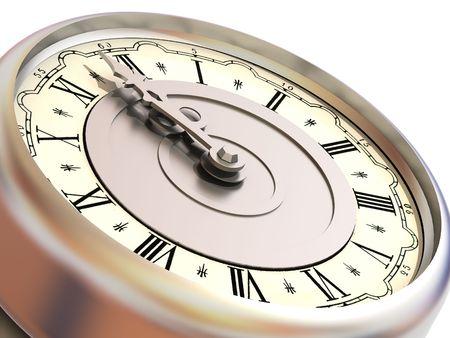 o�??clock: Reloj. Doce en punto. 3d