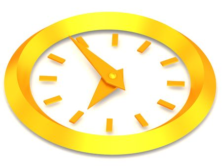 oclock: Clock. eight oclock. 3d Stock Photo