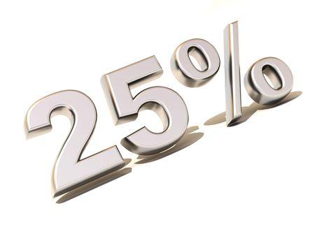 parameter: Twenty-five percent. Silver. 3d