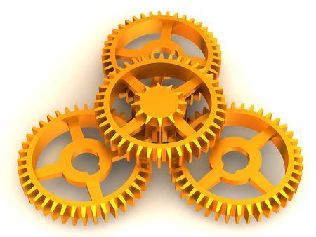 gearings: Gear. 3d Stock Photo