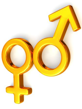 Symbol Men and Women. Love. 3d photo