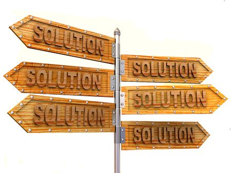 blank arrows directions. Solution Stock Photo - 3214888