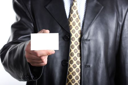 Buisnessmen with message on hand. Stock Photo - 3214857