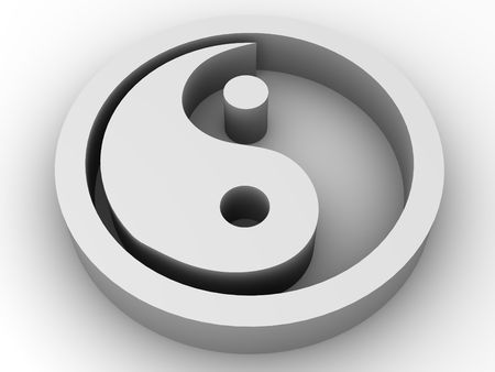 good karma: Icon Ying and Yang. 3d
