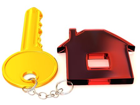 key with trinkets. 3d Stock Photo - 3269074
