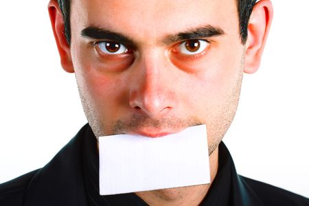 men with message on mouth. Stock Photo - 3269075