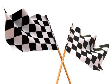 Checkered flags. 3d Stock Photo - 3319241