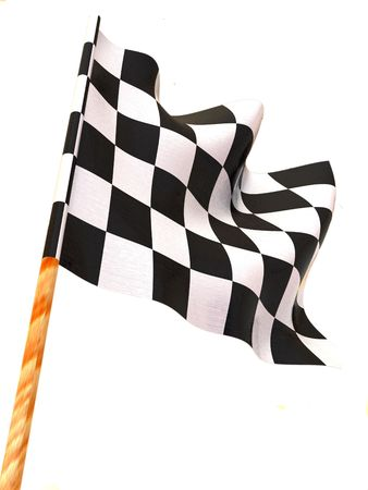 sidecar motocross racing: Checkered flag. 3d Stock Photo