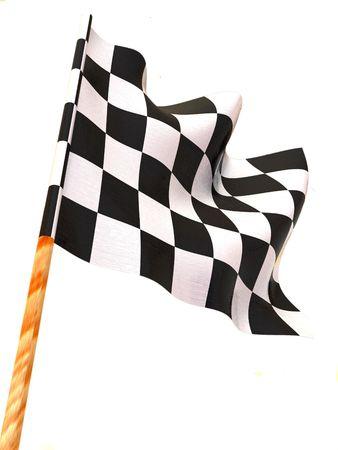 Checkered flag. 3d Stock Photo - 3319243